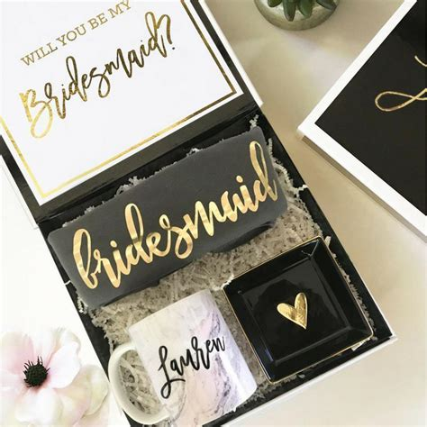 personalized bridesmaid proposal box lucky maiden
