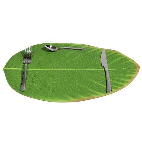 set de table feuille verte    cm bananier maisons du monde