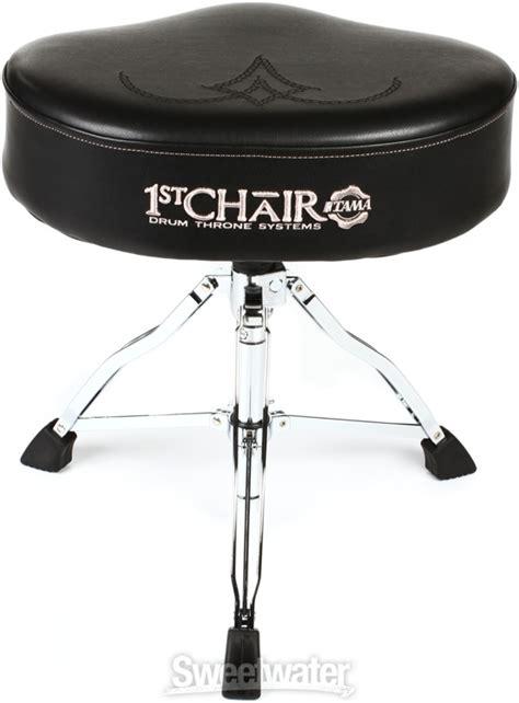 tama 1st chair ergo rider throne black white embroidered