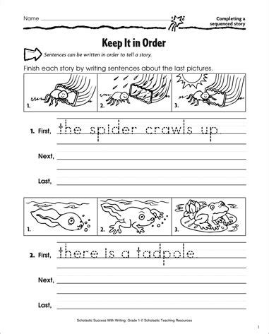 picture story writing worksheets for grade 1 edit sentences first grade math worksheet completing a