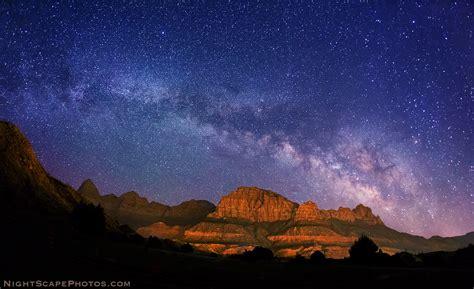 milky  stars  zion national park  nightscape