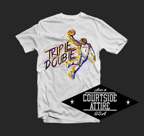 Russell Westbrook Triple Double Shirt Mens Courtside