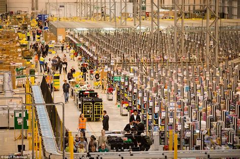 warehouse shopping online staff prepare for black friday daily mail