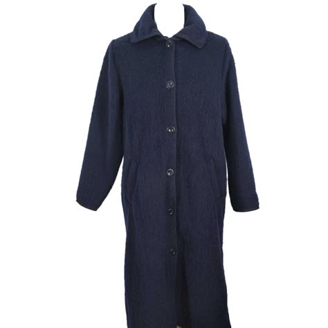 robe de chambre pyrenees robe de chambre boutonnee 7 8 femme marine