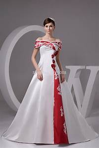 cheap red and white wedding dresses with floor length With cheap non traditional wedding dresses