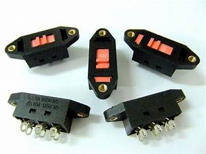 5pcs Slide Switch Ac110  220v Select 6pin Dpdt 3 Position