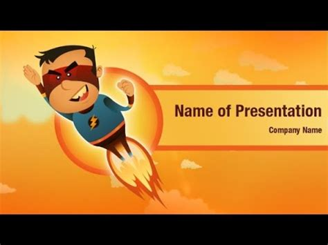 super hero powerpoint video template backgrounds