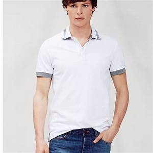 2015 Free Sample Men's Polo Shirt,Stripe Collar And Cuff ...
