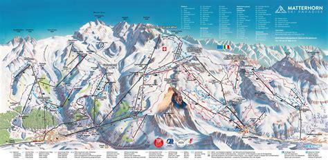 piste map matterhorn zermatt switzerland  km piste