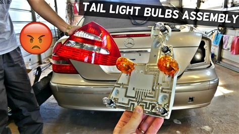 mercedes w211 tail light bulb rear turn signal light bulb brake light bulb replacement youtube