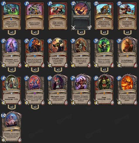 Deck List Standard by Deck Guerrier C Thun Standard Justsaiyan Hearthstone