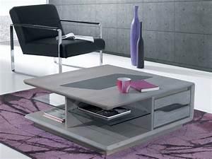 Table Salon Carrée : table de salon ceram carr bois deco ~ Teatrodelosmanantiales.com Idées de Décoration