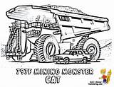 Coloring Pages Truck Construction Cat Mining Boys Tractors 797f Colouring Bobcat Printable Excavators Macho Highway Yescoloring sketch template