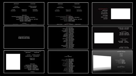 tv credits template 10 free film end credits template for after effects youtube