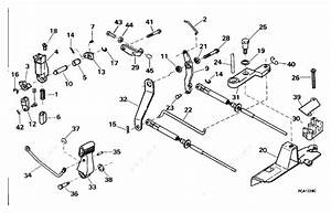 Evinrude 1996 8 - Be8frbxedc  Shift  U0026 Throttle Linkage