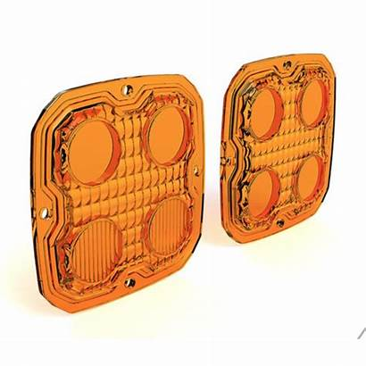 D4 Denali Lights Trioptic Amber Lens Kit