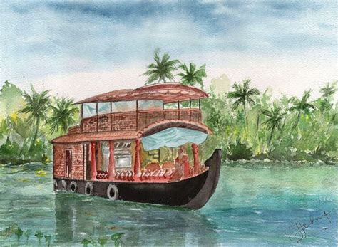 House Boat Drawing by 17 Best Images About Water Colour Drawings On