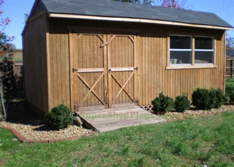 Free Shed Blueprints 12x20 by Custom Design Shed Plans 12x20 Gable Backyard Complete
