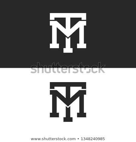 monogram hipster initials tm logo letters set overlapping
