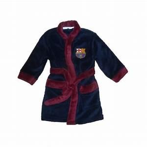 Robe de chambre peignoir enfants fc barcelone sur pyjama for Robe de chambre enfant avec matelas haut de gamme