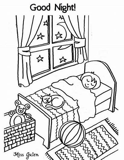 Coloring Night Pages Morning Drawing Printable Colouring