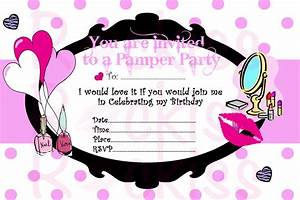 pamper party invitation make up party ready by With pamper party invite template