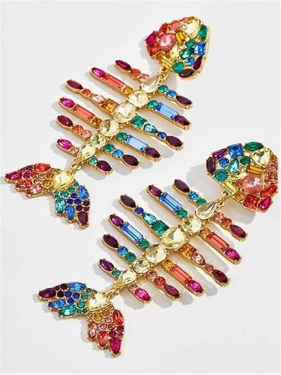 Earrings Fish Baublebar Drop Rainbow Statement Summer