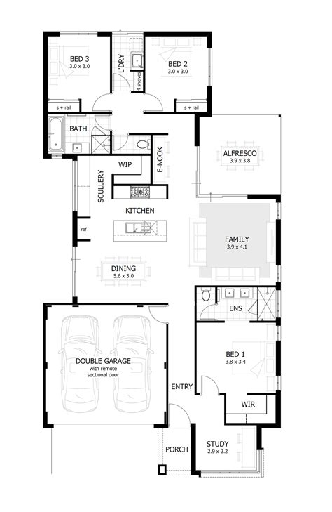 3 bedroom small house plans 3 bedroom house plans home designs celebration homes 17992 | Clara%20Floor%20Plan%202