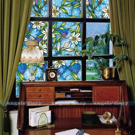 cmcm orchid window film stained glass home privacy