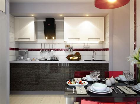 Well Suited Small Space Kitchen Within Dining Room