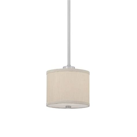 mini pendant with beige fabric shade