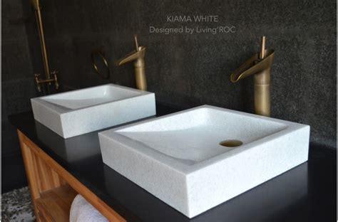 400mm Crystal White Marble Basin Bathroom Stone Kiama White