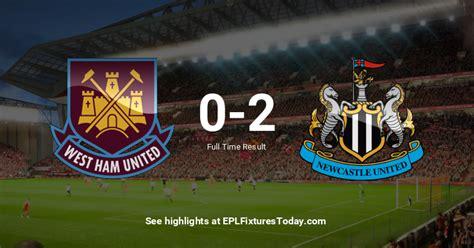 Sat 12 Sep 2020: West Ham United vs Newcastle United ...