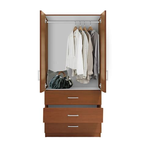 wardrobe cabinet with drawers alta wardrobe armoire 3 external drawers contempo space