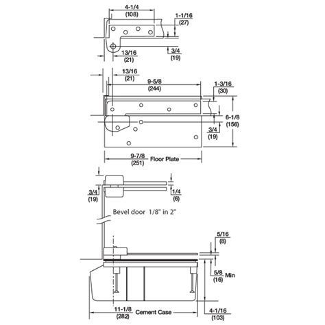 Rixson Floor Closer 27 by Rixson 27 3 4 Quot Offset Concealed Floor Closer Epivots