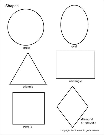 basic shapes free printable templates coloring pages