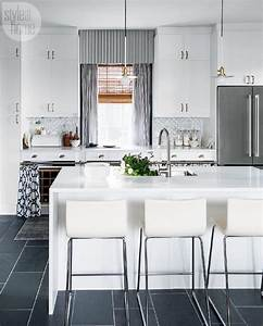 white and gray kitchen with ikea cabinets contemporary With best brand of paint for kitchen cabinets with woven metal wall art