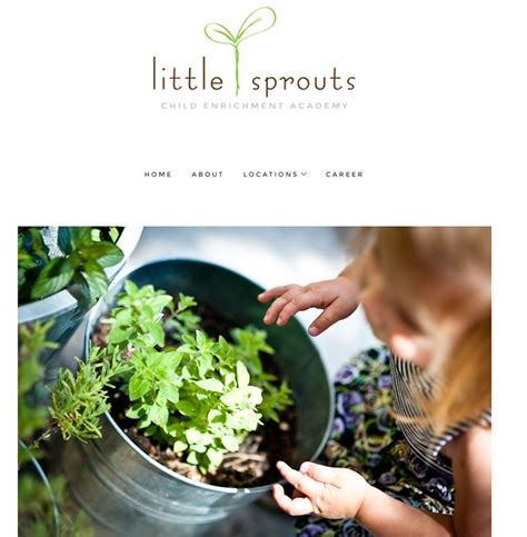100 preschool amp kindergarten websites for design inspiration 582 | 071 little sprouts