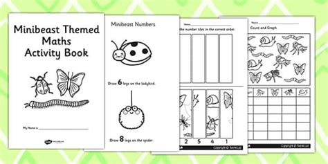 Minibeast Themed Ks1 Maths Activity Book  Numeracy, Activities