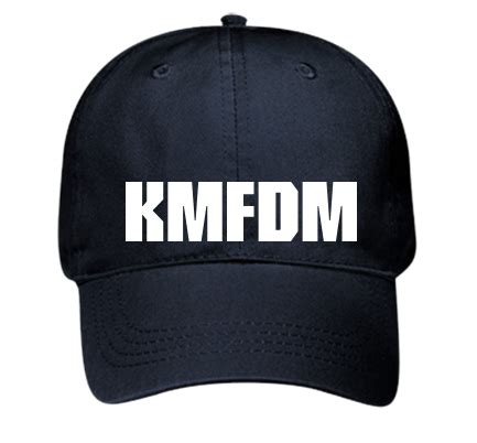 kmfdm hat otto cap deluxe garment washed cotton