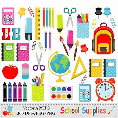 Supplies Clip Stationery Graphics Order Clipart Teacher