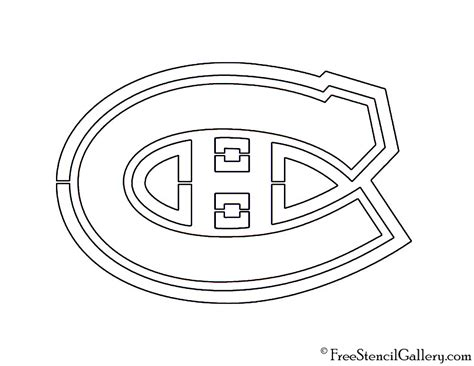 montreal canadiens logo coloring page sketch coloring page