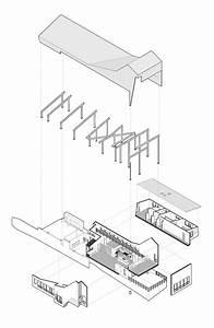 Architecture Exploded Axonometric Diagram   Round Mountain