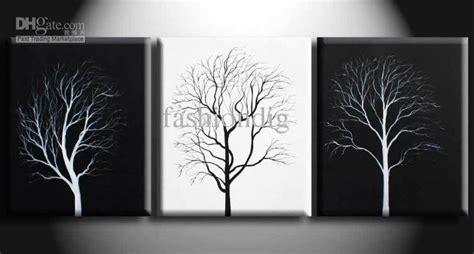 Abstract Simple Abstract Black Canvas Painting by 2019 Abstract Wall Tree Black White Painting Canvas