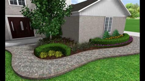 landscape design  image slideshow front walkway