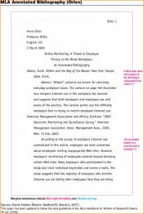 2017 Annotated Bibliography Example MLA Format