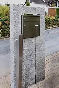 Briefkasten Freistehend Mit Hausnummer : briefkasten in natursteinstelen ~ Sanjose-hotels-ca.com Haus und Dekorationen