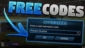 All Free Redeem Codes For Rocket League  Unlock Free Items