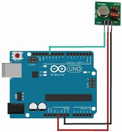 Arduino Transmitter 433mhz Rf Receiver Module Circuit