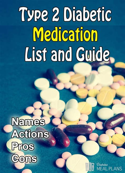 type  diabetic medication list  guide